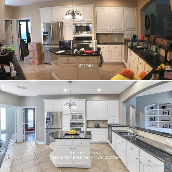 Kitchen Staging Before And After: Three Bears Home Staging