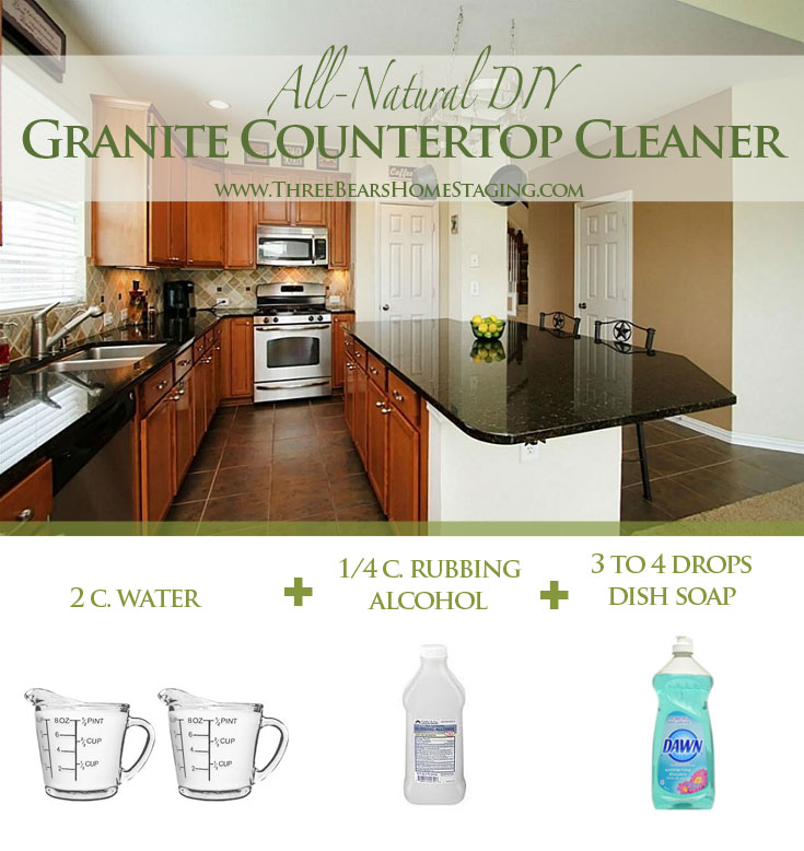 How To Clean Granite Countertops Naturally And Cheaply Three