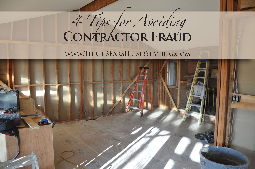 4 Tips for Avoiding Contractor Fraud